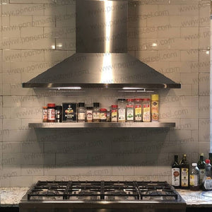shelf above stove