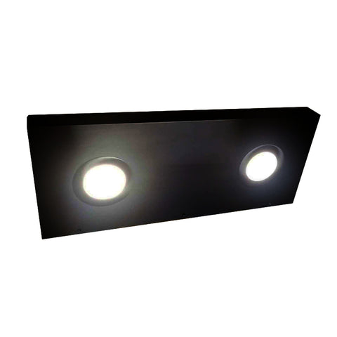 Black shelf Ponoma with LED lights