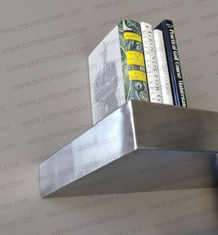seamless stainless steel shelf