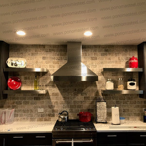stainless steel floating shelves uk
