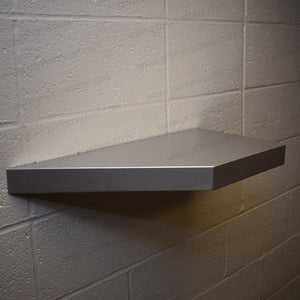 "13""x13""x2.0"" (cm.33x33x5,1) brushed stainless steel floating shelf - Ponoma"