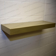 "Load image into Gallery viewer, 15""x6""x1.5"" (cm.38x15x3,8) brushed stainless steel floating shelf - Ponoma"