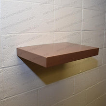 "Load image into Gallery viewer, 18""x10""x1.5"" (cm.46x25,4x3,8) brushed stainless steel floating shelf - Ponoma"