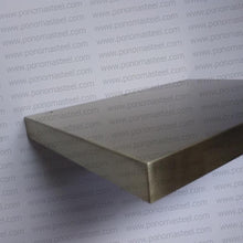 "Load image into Gallery viewer, 24""x12""x2.5"" (cm.61x30,5x6,4) stainless steel floating shelf - Ponoma"