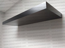 "Load image into Gallery viewer, 36""x12""x1.5"" (cm.91,5x30,5x3,8) painted stainless steel floating shelf - Ponoma"