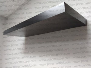 "48""x12""x2.5"" (cm.121,9x30,5x6,4) matte black stainless steel floating shelf - Ponoma"