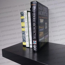 "Load image into Gallery viewer, 48""x12""x2.5"" (cm.121,9x30,5x6,4) matte black stainless steel floating shelf - Ponoma"