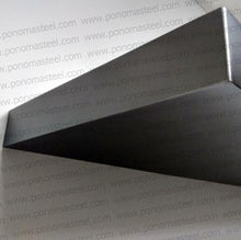 "Load image into Gallery viewer, 48""x8""x1.5"" (cm.121,9x20x3,8) painted stainless steel floating shelf - Ponoma"