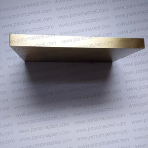 "52""x10""x2.0"" (cm.132x25,4x5,1) painted stainless steel floating shelf - Ponoma"