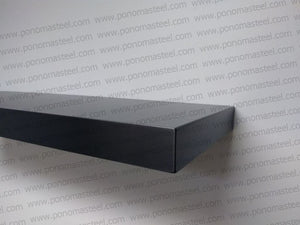 "60""x8""x4.0"" (cm.152x20x10,2) painted stainless steel floating shelf - Ponoma"