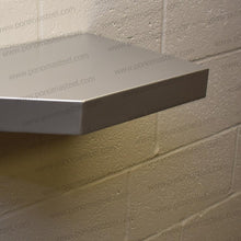 "Load image into Gallery viewer, 24""x12""x1.5"" (cm.61x30,5x3,8) painted stainless floating shelf with 2 LED lights - Ponoma"