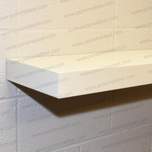 "Load image into Gallery viewer, 24""x10""x2.0"" (cm.61x25,4x5,1) brushed stainless floating shelf with 2 LED lights - Ponoma"