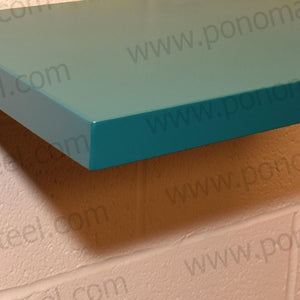 "60""x8""x2.0"" (cm.152x20x5,1) curved seamless stainless steel floating shelves Ponoma® - Ponoma"