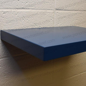 "24""x12""x2.0"" (cm.61x30,5x5,1) brushed stainless steel floating shelf - Ponoma"