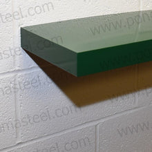"画像をギャラリービューアに読み込む, 24""x12""x2.5"" (cm.61x30,5x6,4) brushed stainless floating shelf with 2 LED lights - Ponoma"