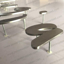 "Load image into Gallery viewer, Letter up to 14"" (cm.35.6) hight made of 1/5"" (mm.5) thickness brushed stainless steel - Ponoma"