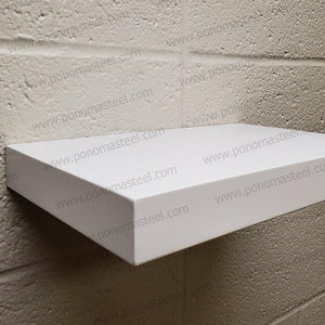 "12""x8""x1.5"" (cm.30,5x20x3,8) painted stainless steel floating shelf - Ponoma"