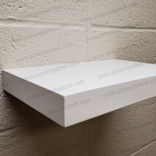 "Load image into Gallery viewer, 24""x10""x2.5"" (cm.61x25,4x6,4) painted stainless floating shelf with 2 LED lights - Ponoma"