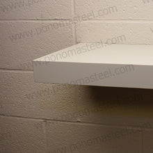 "Load image into Gallery viewer, 24""x10""x1.5"" (cm.61x25,4x3,8) brushed stainless steel floating shelf - Ponoma"