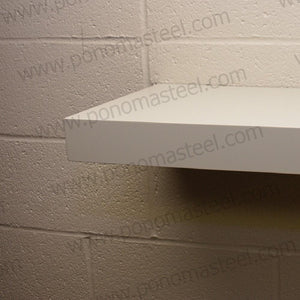 "24""x12""x2.5"" (cm.61x30,5x6,4) painted stainless floating shelf with 2 LED lights - Ponoma"