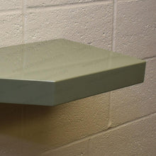 "Load image into Gallery viewer, 24""x12""x2.0"" (cm.61x30,5x5,1) painted stainless floating shelf with 2 LED lights - Ponoma"
