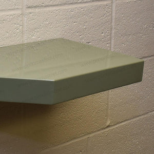 "24""x12""x2.5"" (cm.61x30,5x6,4) brushed stainless steel floating shelf - Ponoma"