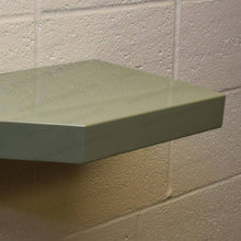 "Load image into Gallery viewer, 33""x12""x2.5"" (cm.84x30,5x6,4) brushed stainless steel floating shelf - Ponoma"