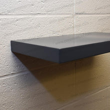 "Load image into Gallery viewer, 18""x10""x1.5"" (cm.46x25,4x3,8) painted stainless floating shelf with 1 LED light - Ponoma"