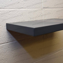 "Load image into Gallery viewer, 25""x12""x2.5"" (cm.63,5x30,5x6,4) brushed stainless steel floating shelf - Ponoma"