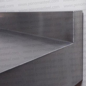 "Stainless steel countertop Ponoma® 2"" with 2"" backsplash brushed seamless - Ponoma"