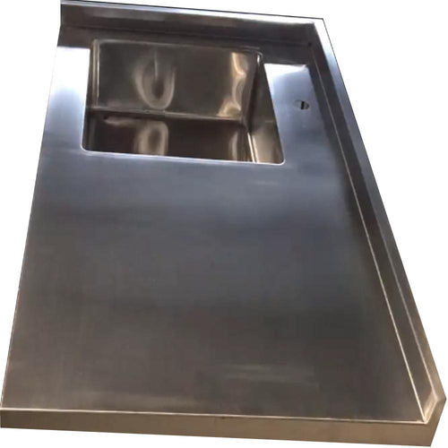 Stainless steel sink countertop Ponoma®, brushed seamless - Ponoma