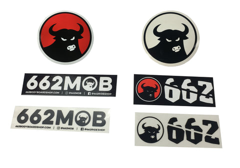 662 Mini Sticker Pack - Stickers - 662 Bodyboard Shop