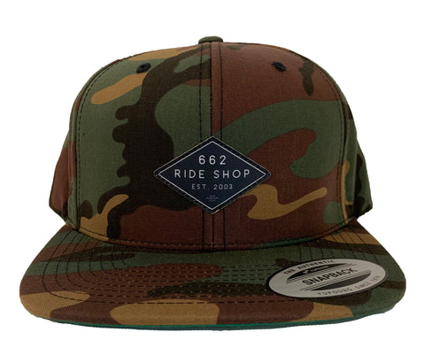 662 Classic Camo Diamond Patch Snapback - Hats - 662 Bodyboard Shop
