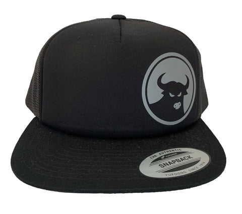 662 Black/Grey Foam Front Snapback - Hats - 662 Bodyboard Shop