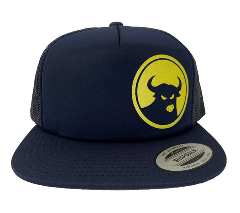662 Navy/Yellow Foam Front Snapback - Hats - 662 Bodyboard Shop