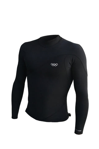 ZION Wesley 0.5MM Long Sleeve Vest Black - Wetsuits - 662 Bodyboard Shop