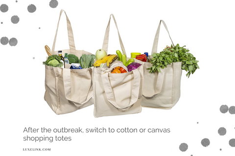 canvas shopping totes