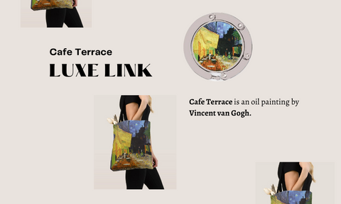 Cafe Terrace is an oil painting by Vincent van Gogh Luxe link purse hook