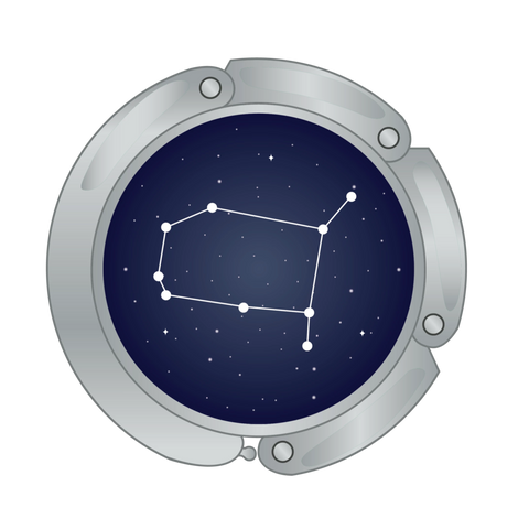 Gemini constellation main image for luxe link purse hook