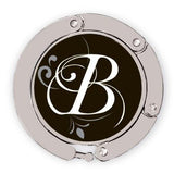 flourished B luxe link purse hook image