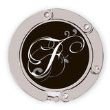 Flourished F initial new for luxe link purse hook