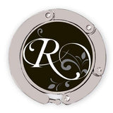 Flourished R initial for luxe link purse hook