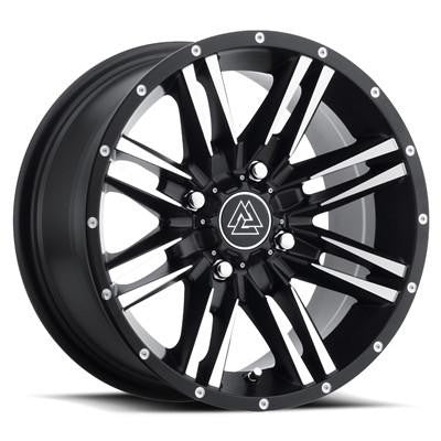 14X7, 4X110, 5+2 Black/Machined