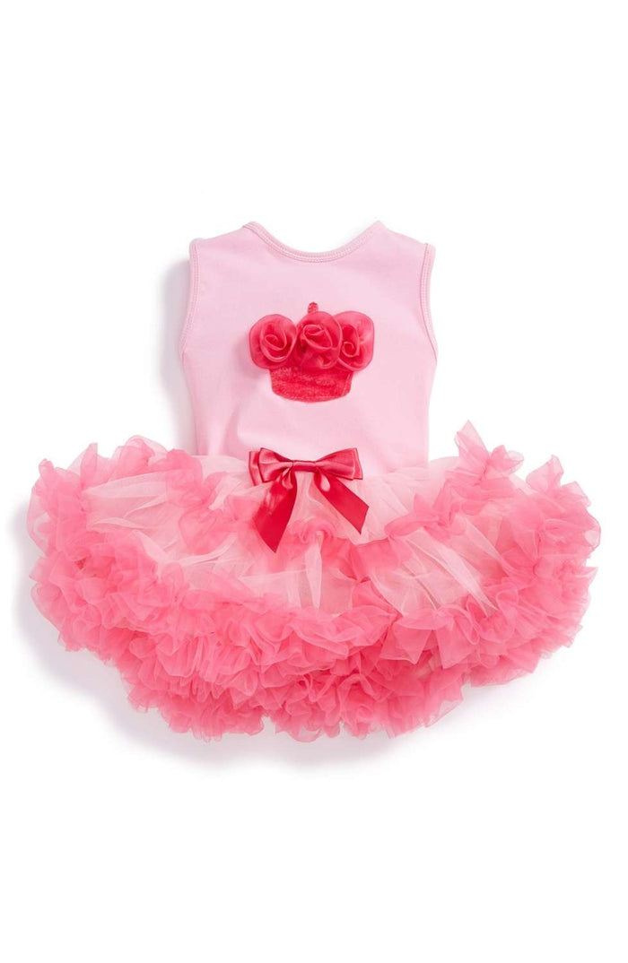 Birthday Cupcake Pink Ruffle Dress, Onesie - itsmypartykids