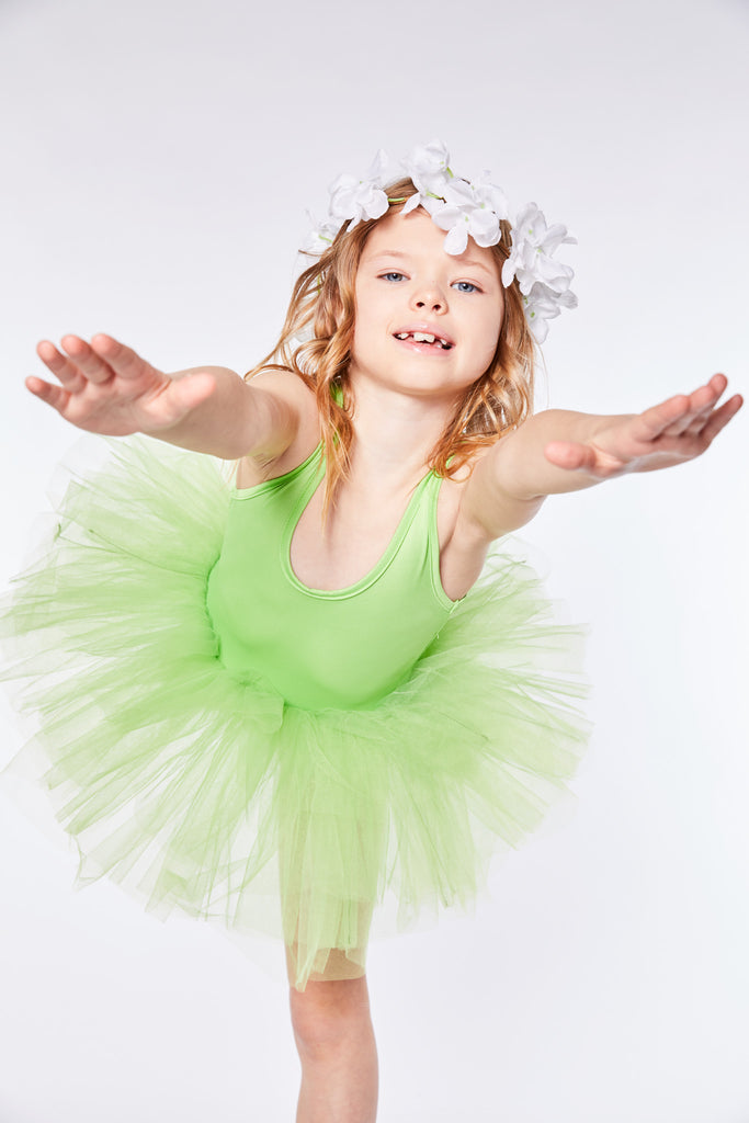 AMALA NEON GREEN Tutu Dress, Tutu - itsmypartykids