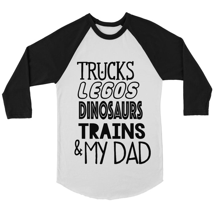 My Favorite Things and Daddy Raglan Onesie or Tee - Black/White - Father's Day, TEES - itsmypartykids