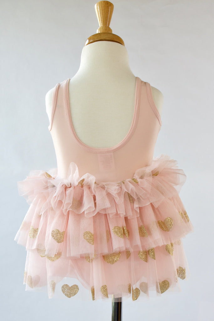 Ballet-pink-gold-glitter-heart-toddler-tutu-dress-2-It's My Party Kids Boutique