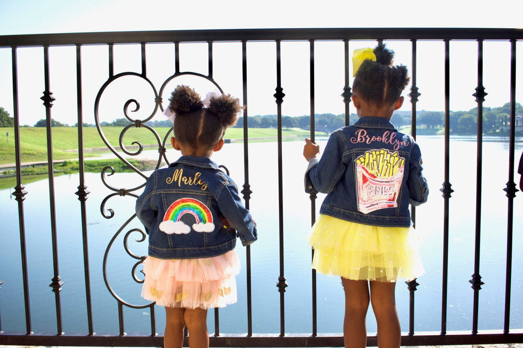 Personalized-rainbow-sequin-patch-glitter-customized-denim-baby-toddler-jacket-2-It's My Party Kids Boutique