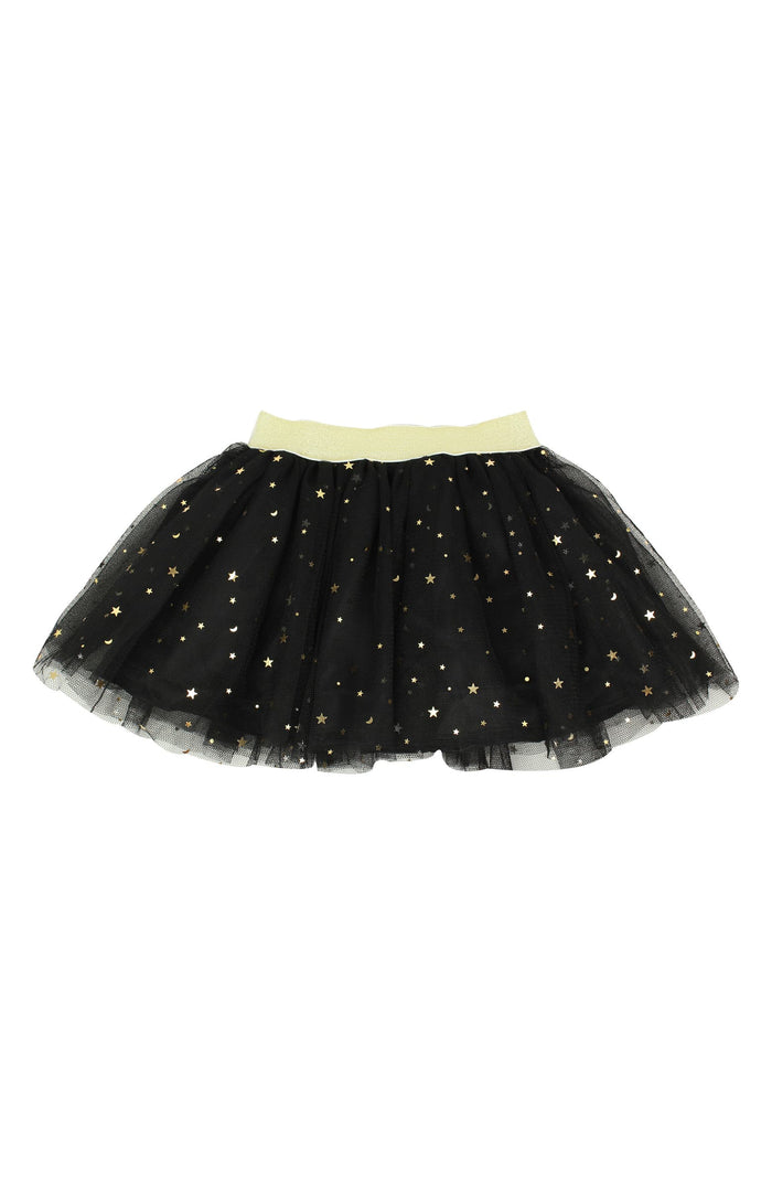 Gold Star Sparkle Toddler Tutu Skirt Black - It's My Party Kids Boutique