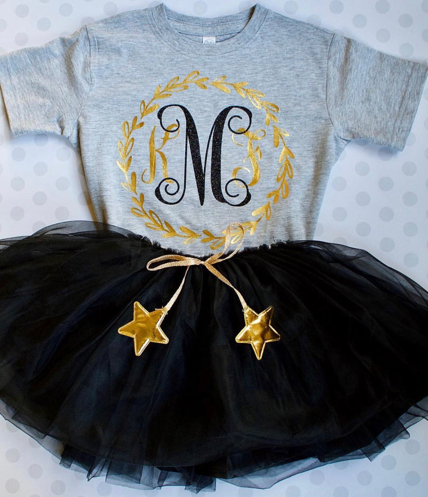 Starry Night Tutu Skirt - BLACK